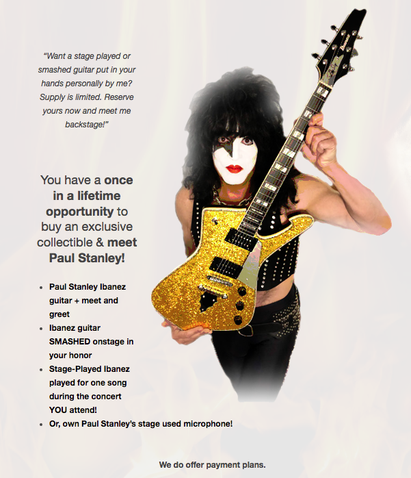 KISS's Paul Stanley Will Sell You a Guitar He Played Once for