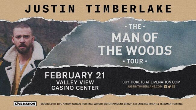 Justin Timberlake The Man Of The Woods Tour San Diego Valley View Casino Center February 21, 2019