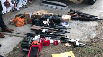 Crime and Punishment - 51-Year-Old Man Arrested After Huge Cache of Weapons Discovered at His Home