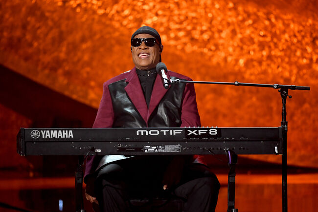 Q85: A Musical Celebration For Quincy Jones LOS ANGELES, CA - SEPTEMBER 25: Stevie Wonder performs onstage at Q85: A Musical Celebration for Quincy Jones at the Microsoft Theatre on September 25, 2018 in Los Angeles, California. (Photo by Kevin Winter/Getty Images)