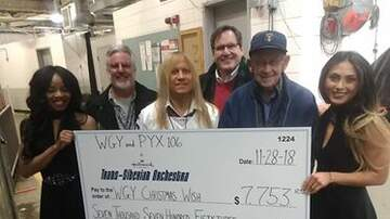 Chuck and Kelly - TSO Presents WGY with Donation For Christmas Wish