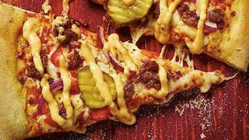 Lady La - Domino's Has A Cheeseburger Pizza That Is Topped With Pickles