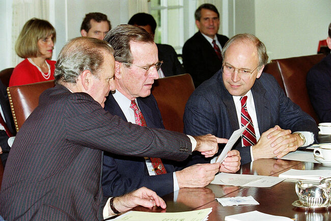 George Bush and James Baker