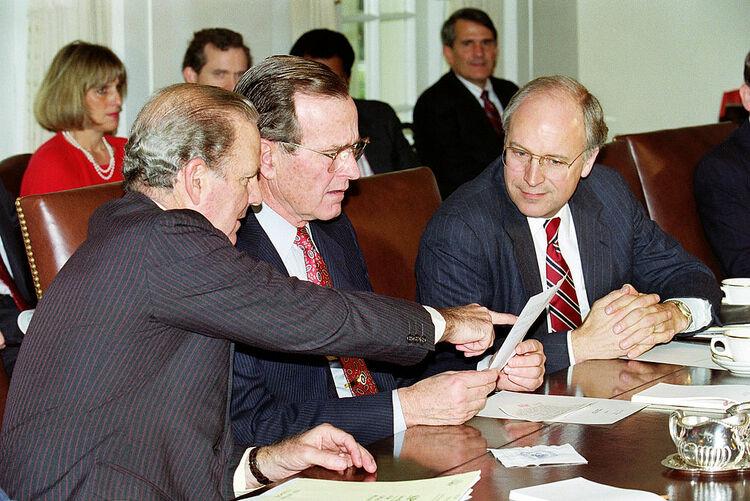 George Bush and James Baker