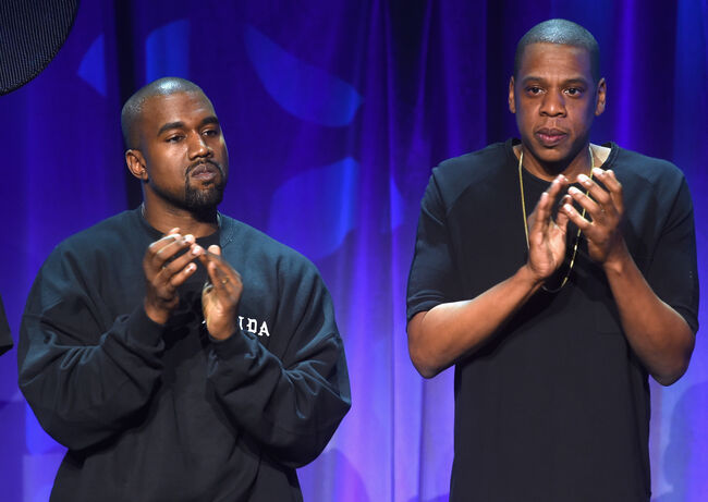 Jay Z and Kanye West (Getty)