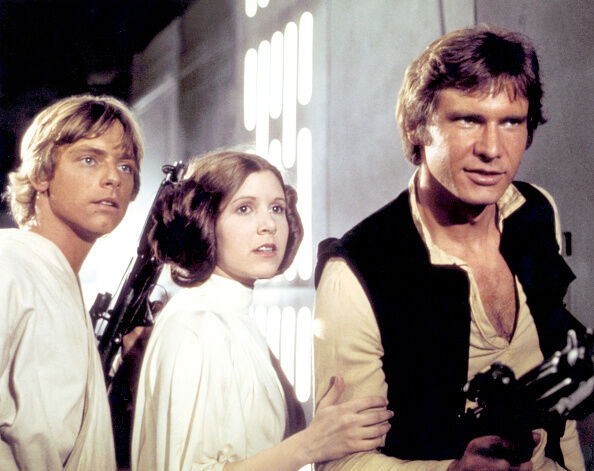 On the set of Star Wars: Episode IV - A New Hope (Getty Images)