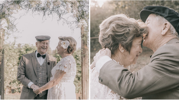 Suzette - Elderly Couple Had No Wedding Photos, They Re-Created Them 60 Years Late