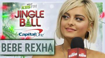 Mercedes-Benz Interview Lounge - Bebe Rexha Admits Her Strange Hobbies at KIIS Jingle Ball