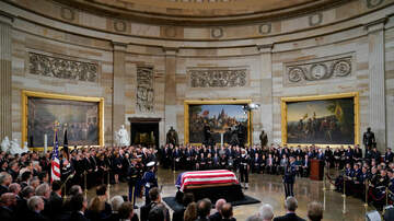 The Joe Pags Show - Family Members, Dignitaries File Past Bush Casket