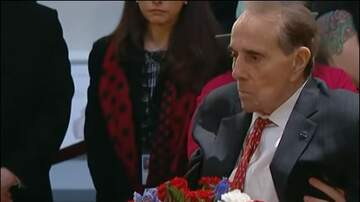 The Insider - Bob Dole gives George H.W. Bush standing salute, rising from his wheelchair