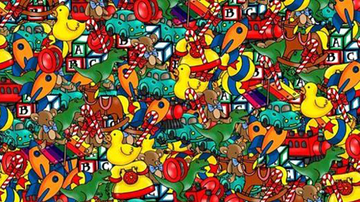 Trending - Can You Find The Hidden Doll Among These Christmas Toys?