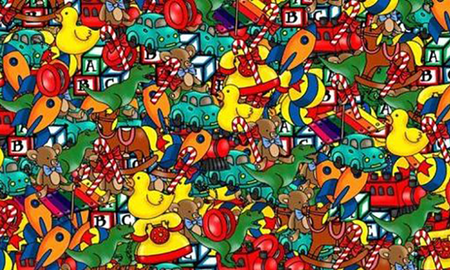 Weird News - Can You Find The Hidden Doll Among These Christmas Toys?