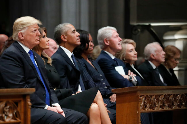 Presidents attend Bush funeral