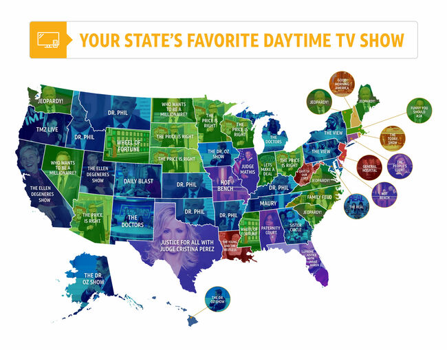 Can You Guess Your State's Favorite Daytime TV Show Guilty
