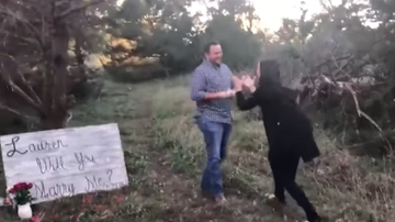 Johnjay And Rich - WATCH: Woman Totally Loses It During Proposal In Woods