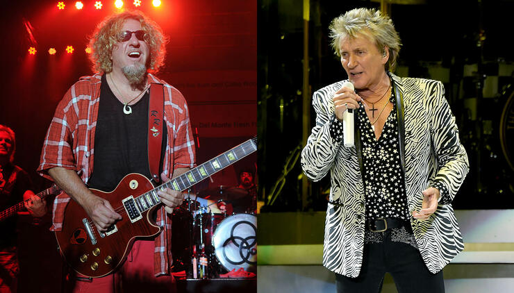sammy hagar credits rod stewart with inspiring stage persona iheartradio. Black Bedroom Furniture Sets. Home Design Ideas