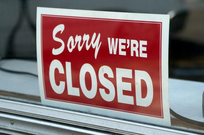 Closed Sign Getty RF
