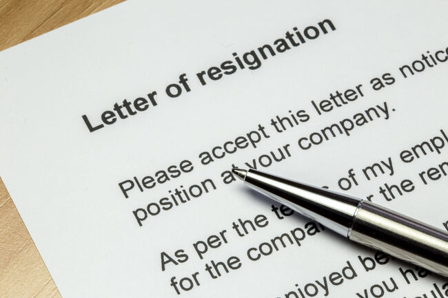 Resignation Letter Getty RF