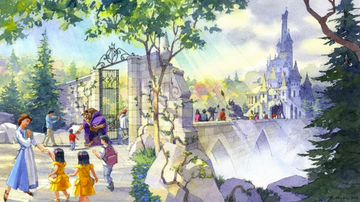 Tall Cathy - Tokyo Disneyland Building Giant Beauty & the Beast Attraction