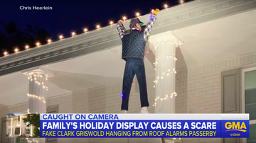 Frank Bell - Man Tries to Rescues Dummy Hanging as Christmas Decoration