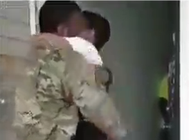 Beth Bradley - Little boy is over joyed to see his Dad