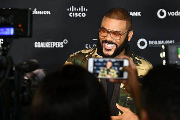 Global Citizen Festival: Mandela 100 - VIP Lounge JOHANNESBURG, SOUTH AFRICA - DECEMBER 02: Tyler Perry attends the Global Citizen Festival: Mandela 100 at FNB Stadium on December 2, 2018 in Johannesburg, South Africa. (Photo by Noam Galai/Getty Images for Global Citizen Festival: Mandela 100)
