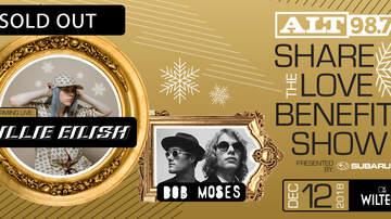 ALT Articles - Billie Eilish, Bob Moses To Perform At ALT 98.7's Share The Love Benefit