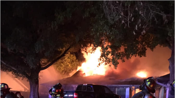 Tampa Local News - Fire Crews Battle Northdale House Fire As Ammunition Explodes Inside