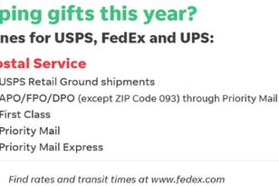 Deadlines For Holiday Shipping; USPS, Fed Ex, UPS