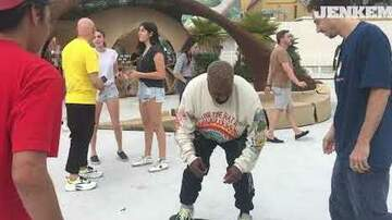 Chuck Dizzle - Kanye West Is Out Here Learning Skateboard Tricks!