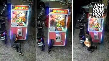 Corey & Patrick In The Morning - Flexible thief climbs into claw game for stuffed prize