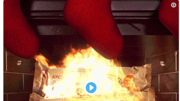 Steve - KFC Scented Fire Log - What A Country!