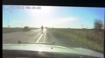 Local News - Iowa Trooper runs just before semi smashes car VIDEO