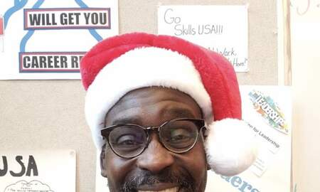 Stan Bell - Stan is Santa at school...