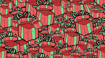 Entertainment News - Can You Spot The Bag Of Money Hidden Among These Presents?