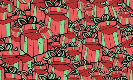 Music News - Can You Spot The Bag Of Money Hidden Among These Presents?