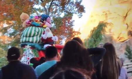 Weird News - Santa Nearly Falls Off Float During Disneyland Parade