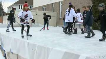 Rockin' Rick (Rick Rider) - Neighborhood complaint forces family to remove backyard hockey rink!