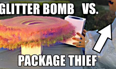 Weird News - Package Thieves Epically Owned With Glitter Bombs And Fart Spray