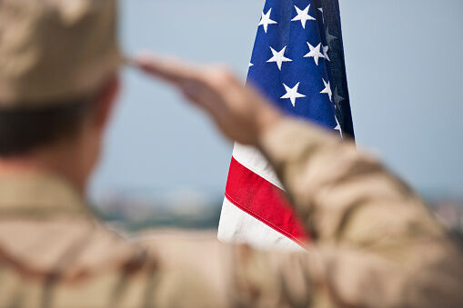 Salute the military with a card
