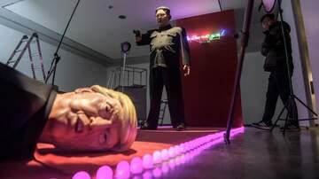 None - Kim Jong Un shoots Trump in S. Korean art exhibit