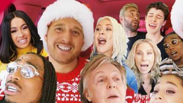 Holidays - Michael Buble, Shawn Mendes & Cardi B Get Festive In New 'Carpool Karaoke'