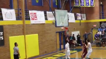 Sports Top Stories - High School Basketball Player Shatters The Backboard With Epic Dunk