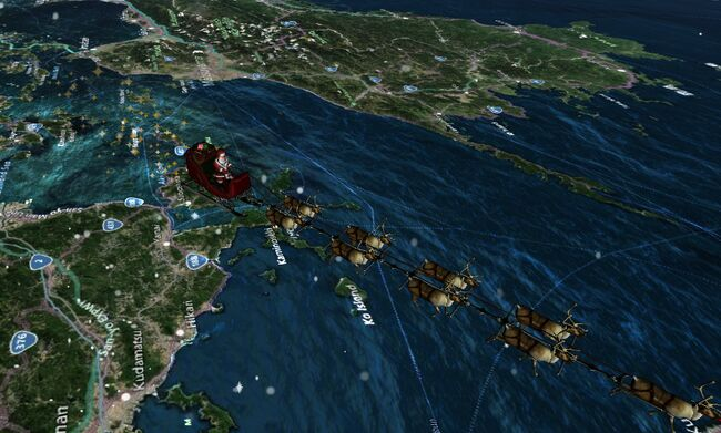 CLICK ON PICTURE to go to live Santa Tracker from NORAD