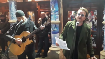 Frank Bell - Bono and Edge Spread Christmas Cheer