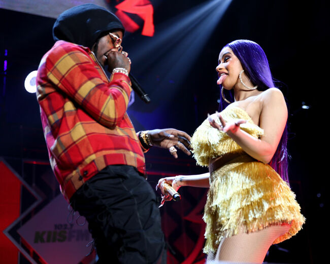 Offset and Cardi B perform onstage (Photo by Rich Fury/Getty Images for iHeartMedia)