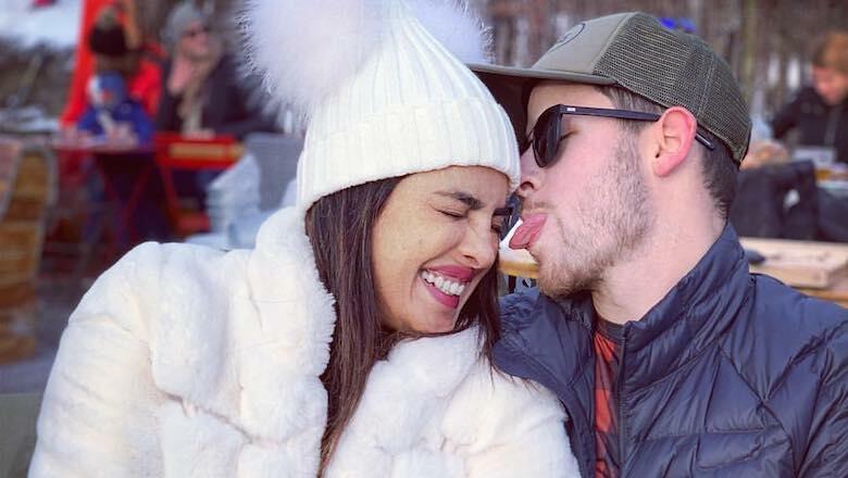 Newlyweds Nick Jonas & Priyanka Chopra Hit The Slopes On Family Vacation