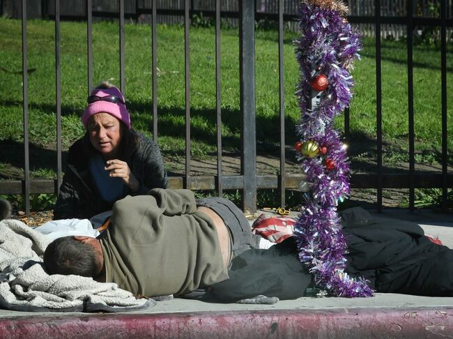 homeless ordered to move during new year's eve