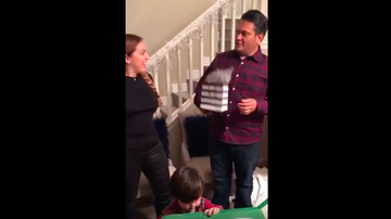 JB - Wife gifts hubby Pregnancy Stick for Christmas