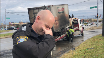 Cool Beans - Police Officers Mourn the Loss of a Doughnut Truck